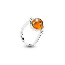 House of Amber - Louise Sigvardt  RING SILVER W/AMBER 12MM