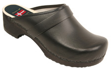 Danish Clogs - Euro-Dan, Open heel, Black