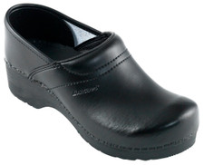 Danish Clogs - Danclog, Mens closed heel, Black