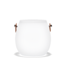 Holmegaard Design with Light Frosted Pot, 3.9""