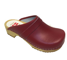 Danish Clogs - Euro-Dan, Open heel, Red