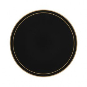 Lady Clare Round Tablemats Black Screened