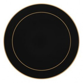 Lady Clare Round Placemats Black Screened