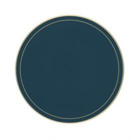 Lady Clare Round Tablemats Oxford Blue Screened