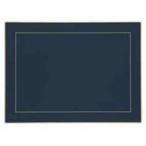 Lady Clare Continental Placemats Oxford Blue Screened