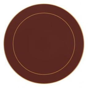 Lady Clare Round Placemats Regal Red Screened