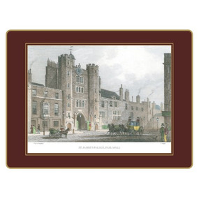 Lady Clare Continental Placemats Shepherd's London - Red