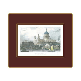Lady Clare Tablemats Shepherd's London - Red