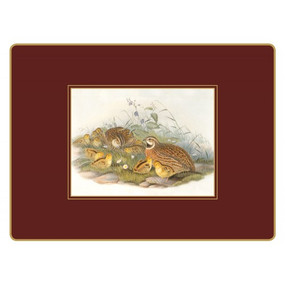 Lady Clare Continental Placemats Gould Game Birds