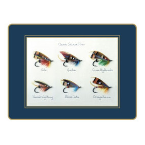 Lady Clare Placemats Classic Salmon Flies