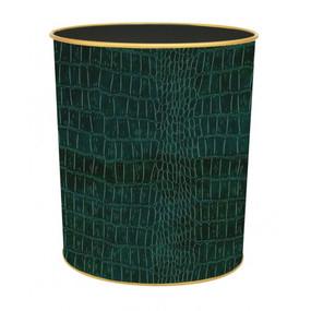 Textured Waste Bin Green Croc