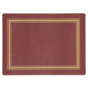 Placemats Red/Gold Melamine - Hospitality Mats - Set of 10