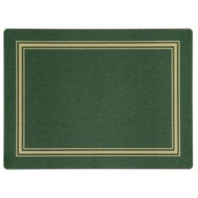Placemats Green/Gold Melamine - Hospitality Mats - Set of 10