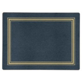 Placemats Blue/Gold Melamine - Hospitality Mats - Set of 10