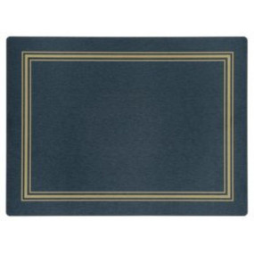 Continental Placemats Blue/Gold Melamine - Hospitality Mats - Set of 10