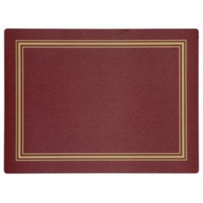 Continental Placemats Red/Gold Melamine - Hospitality Mats - Set of 10