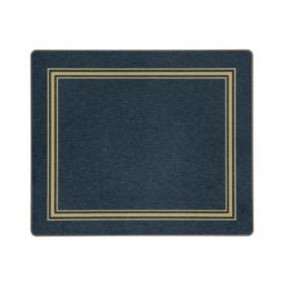Tablemats Blue/Gold Melamine - Hospitality Mats - Set of 10