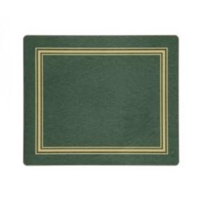 Tablemats Green/Gold Melamine - Hospitality Mats - Set of 10