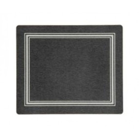 Tablemats Black/Silver Melamine - Hospitality Mats - Set of 10