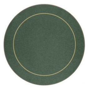 Round Placemats Green/Gold Melamine - Hospitality Mats - Set of 10