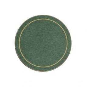 Round Coasters Green/Gold Melamine - Hospitality Mats - Set of 10