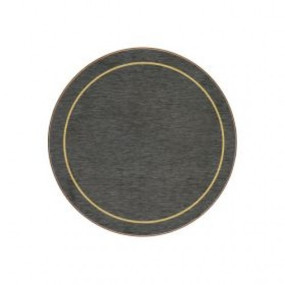 Round Coasters Blue/Gold Melamine - Hospitality Mats - Set of 10