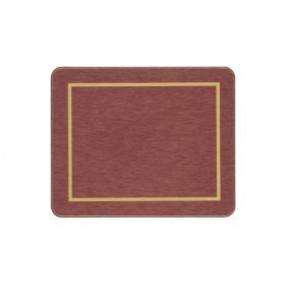 Coasters Red/Gold Melamine - Hospitality Mats - Set of 10
