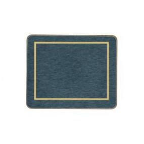 Coasters Blue/Gold Melamine - Hospitality Mats - Set of 10