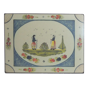 Lady Clare Continental Placemats Quimper Mistral Blue