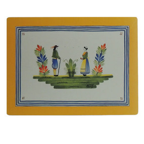 Lady Clare Quimper Henriot Yellow Continental Placemats
