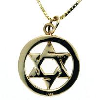 Jewish Star Charm in 14kt YG