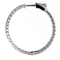 14kt White Gold Diamond Hoop Earrings