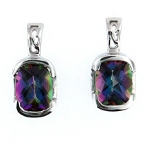 Mystic Topaz Earrings in 14kt White Gold