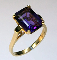 14kt Yellow Gold Amethyst Ring R569 1877