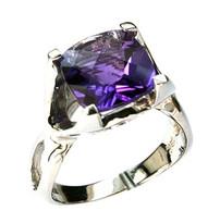 14kt White Gold Amethyst Ring