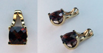 14kt Yellow Gold 3.9ct Garnet Earrings