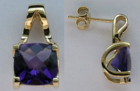 Amethyst Earrings in 14kt Yellow Gold EGE70