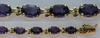 14kt Yellow Gold Amethyst Bracelet with 12.6ct Gemstone