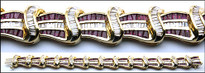 15.04ct Ruby and Diamond Bracelet in 14k Yellow Gold