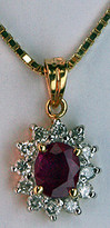 .74ct Ruby Pendant set in 14k Yellow Gold