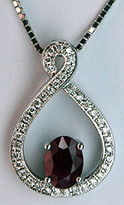 18k Ruby & Diamond Pendant with .26ct Diamonds