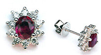 .80ct Ruby Studs with Diamonds