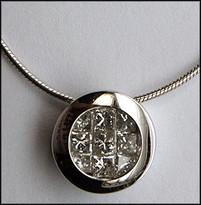 .98ct Invisible Set Floating Diamond Pendant