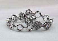 14k Diamond Cluster Hoop Earrings