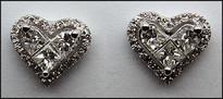 18kt Diamond Heart Earrings