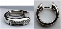 14kt Gold Diamond Huggie Earrings