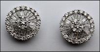 18k White Gold Diamond Earrings 1.13ct Diamond