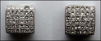 1.50ct Princess Cut 6 Row Invisible Set Earrings