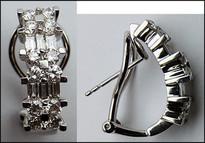 18kt Gold Diamond Earrings for Women