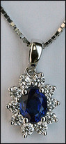 .86ct Blue Sapphire Pendant in 18kt White Gold
